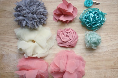 A Bunch of Fabric Flowers