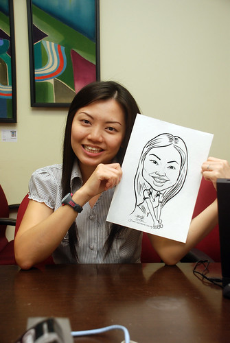 Caricature live sketching @ UOB Finance Division - 6