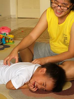 Julian ticklish