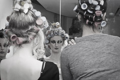 (Apple Green Amy) Tags: reflection fashion hair models mirrors rollers shareitwearit