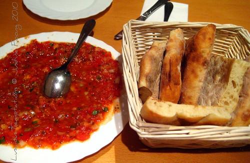 Ezme Salata and Bread - Mangal Ocakbaşı, Dalston
