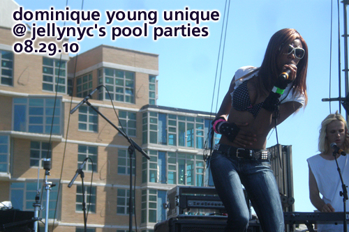 Dominique Young Unique at JellyNYC's Pool Parties, Williamsburg Waterfront, August 29, 2010