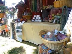 Picnic Craft Show Booth Set Up (ontheroundfiberart) Tags: booth portland handmade maine setup etsy fiberart handspun craftshow ontheround picnicmusicartsfestival