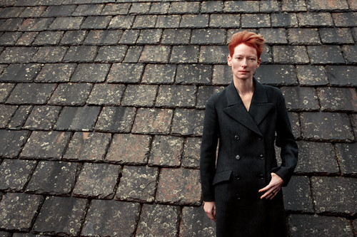 Tilda Swinton for Pringle of Scotland