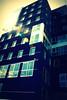 scorci di architettura (un gatto di passaggio) Tags: blu edificio sole palazzo riflessi architettura friuli udine friuliveneziagiulia tavagnacco finester terminalnord