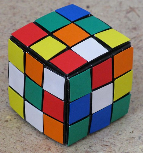 Как сделать кубик рубика своими руками из бумаги 98
