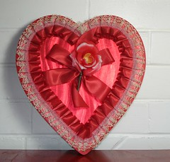 Vintage Red Valentine Candy Box (VintageTinsel) Tags: red holiday vintage candy box