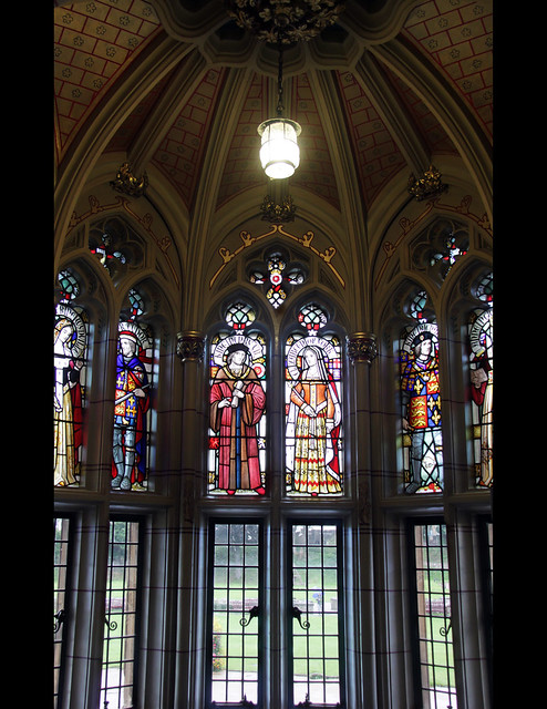 Stained glass in Entrance Hall
