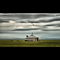 THE ONE LIFE (ARIUKAMO) Tags: cloud eagle cloudy mongolia yurt steppe ger mongolian aimag bestcapturesaoi elitegalleryaoi ariukamo