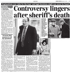 Controversy lingers after Sheriff's Death - Sunday Express January 21 2010
