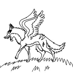 winged wolf (MyLordshipness) Tags: wings wolf jackal
