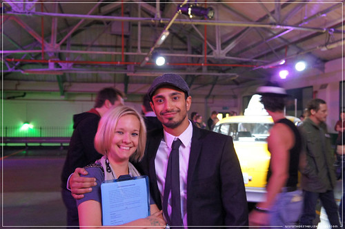 Jameson Cult Film Club - Taxi Driver: JCFC Curator Riz Ahmed & Jameson's team member. Travis Bickle lurking in the background