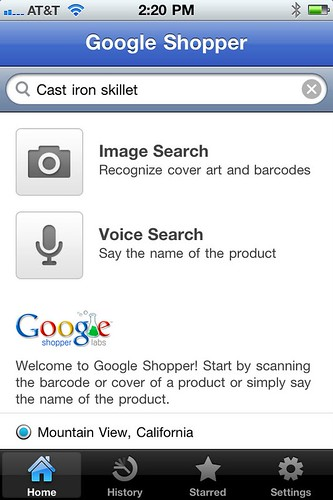 Google Shopper iPhone