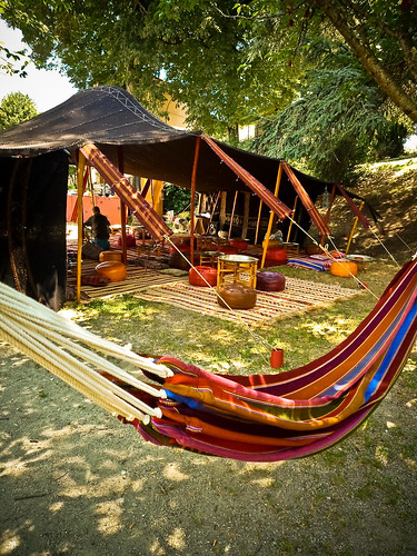 Location tente Marocaine Khaima 70m2 - La tente nomade de nuit