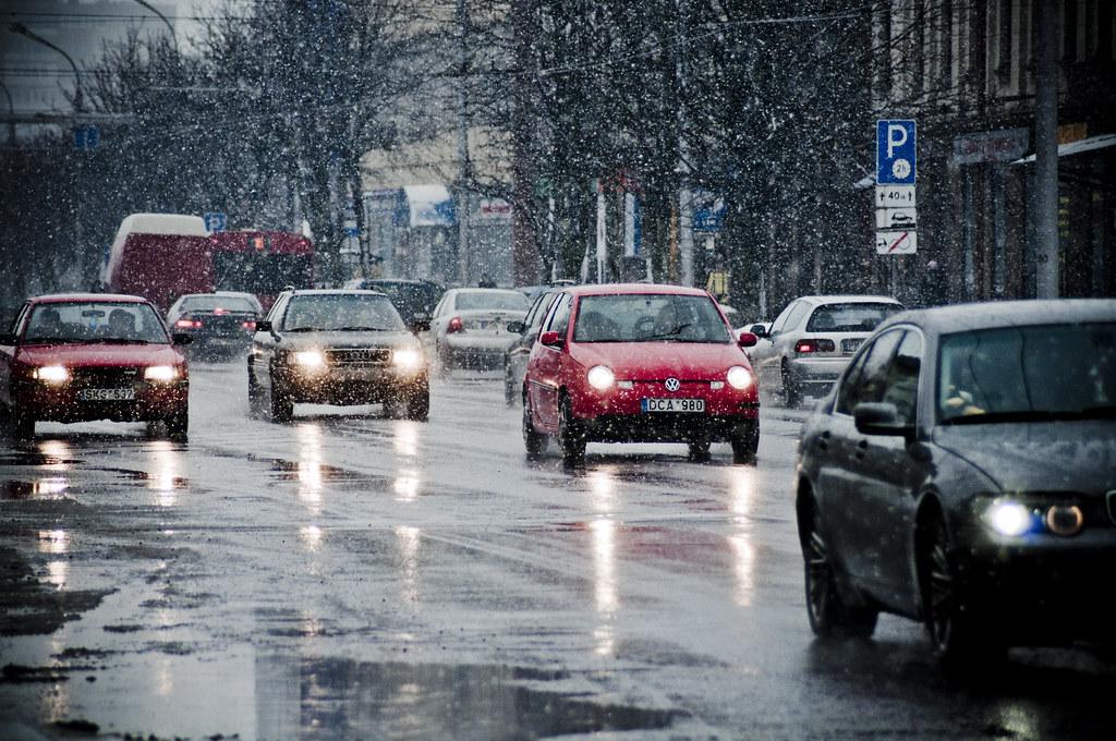 Wet snow | Savanorių pr., Kaunas