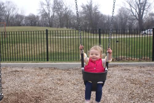 Lilah swinging!