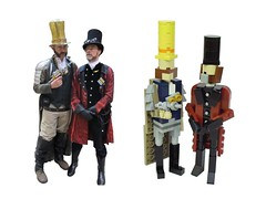 Dopplegangers! (Ochre Jelly) Tags: nova bay lego cosplay bricks albion steampunk moc afol miniland bbtb