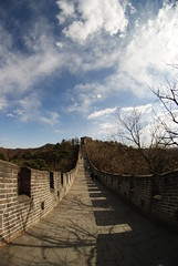 Fisheye Mutianyu wall (cheesemonster) Tags: china old wall ancient historic unesco greatwall  touristtrap thewall touristattraction mutianyu olde worldheritage rebuilt antiquity greatwallofchina yeolde wallofchina   diemauer  heritagesite featofengineering thelongwallof10000