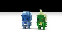 Zircons BrickHeadz (admiraltyphoon) Tags: lego steven universe zircon blue yellow lawyer