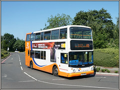 Travel de Courcey 808, Walsgrave (Jason 87030) Tags: dolomite traveldecourcey mike coventry midlands operator 60 route service doubledecker dennis trident bus alx4000 mids hospital university june 2017 lv52hho 808 state arenapark