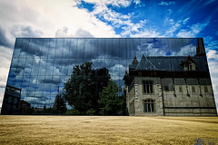 Behind Me, But In Front (LeWelsch Photo) Tags: behindme infront city archives museum history einstein mirror reflection clouds cloudporn bern switzerland rx100m3 rx100iii lewelsch madeinbern