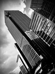 CITI Building (Chris Goodacre) Tags: canarywharf london street mobilephonecamera android motog4 chrisg35mm photoscape monochrome citi