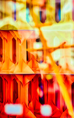 Warm color palette (Blas Torillo) Tags: puebla méxico mexico arte art esculturas sculptures papel paper colores colors fineart reflejos reflections ventana windows colorescálidos warmcolors abstracto abstract fotografíaprofesional professionalphotography fotógrafosmexicanos mexicanphotographers nikon d5200 nikond5200