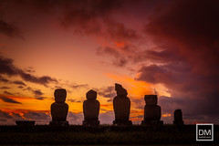 Easter Island (muttiah.com) Tags: chile easterisland island moai rapanui southamerica statue sunrisephotography sunset travel travelphotography background muttiahphoto ahuvaiuri
