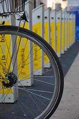 bicycle (Hayashina) Tags: italy turin bicycle yellow torino