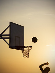 I love THE game (simone|cento) Tags: sunset game history net silhouette basketball sport ball fun funny time chest details young romance player story memory points shooting moment decisive spending rebound theauthorsplaza