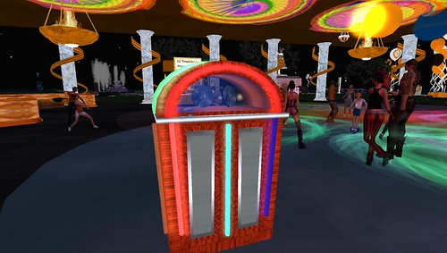 juke box at SL7B birthday party