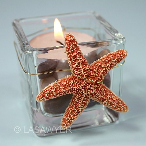 Beach Wedding Tealight Candle Accent