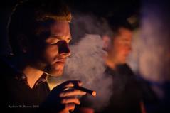 Smoke (andrewrennie) Tags: portrait man nikon stag dof hand smoke neil cigar smoking depthoffield swirl hold shallowdof d90 nikond90