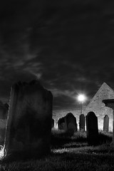 Night in Dracula's Graveyard (The Pinged Hobbit) Tags: night whitby gravestones