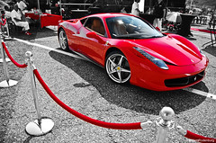 Ferrari 458 Italia (Willem Rodenburg) Tags: park new red white 3 black holland colour sc netherlands car race photoshop silver grey nikon italia stripes nederland picasa fast ferrari expensive circuit scuderia zandvoort supercar colouring willem f430 430 lightroom the sportcar 458 cpz d40 hypercar rodenburg selectieve