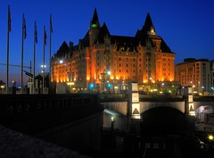 Chateau Laurier on a windless summer night (beyondhue) Tags: ontario canada night ottawa chateau laurier fairmont beyondhue