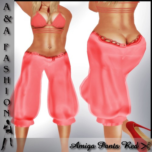 A&A Fashion Amiga Pants Red