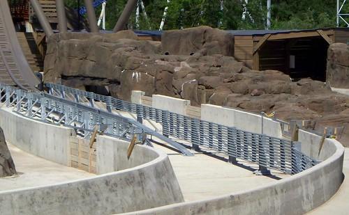 Cedar Point - Close Up of Shoot the Rapids Work