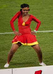 Dancers @ the World Cup (Steve Rogers Photography) Tags: chile girls brazil hot sexy sports southafrica football women cheerleaders dancers action fifa soccer fans worldcup mundial copa johannesburg voetbal joburg fodbold 2010 jozi fotbal futball ellispark ftbal roundof16 jalgpal