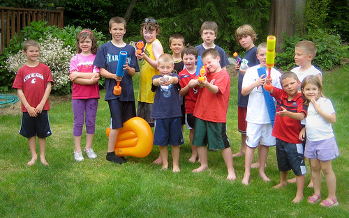 Ready for the waterfight