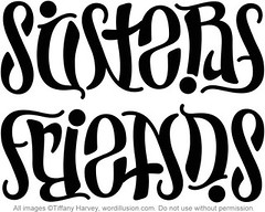 """Sisters"" & ""Friends"" Ambigram"