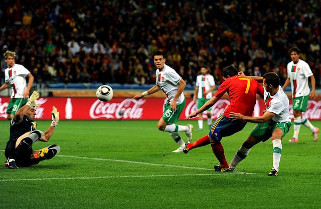 Mundial Fútbol España gol David Villa