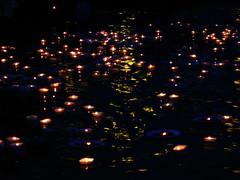 LAMPS ON RIVER GANGA (lopamudra bag) Tags: abstract night river worship holy ritual hindu hinduism kolkata puja ganga ganges ghat westbengal pujo riverganga abstractphotography photowalking riverganges kolphotowalking paschimbangla gangarghat