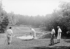 Four men playing golf, Westmount Golf and Coun...
