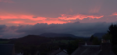 Nice evening... (Weddog) Tags: from above camera sunset baby window with rooftops very head perthshire crieff compact quickly grabbed velux
