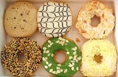 Yummy Friday: Big Apple's Donuts (stardex) Tags: donut bigapplesdonuts food sweet round peanut cream green greentea yummy stardex canon almond