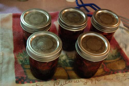 making cherry preserves