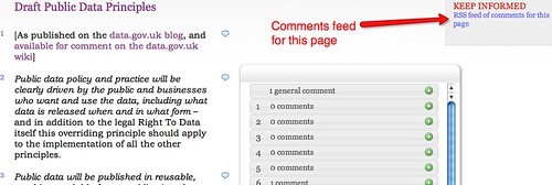 Page level comments feed on WTR
