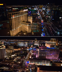 Las Vegas, Nevada. (Daniel.Lam) Tags: city las vegas paris tower night lens photography nikon diptych cityscape view angle time top daniel nevada wide eiffel nighttime strip sin wa kit 1855 nikkor scape lam the d80 daniellam of daniellamphotography