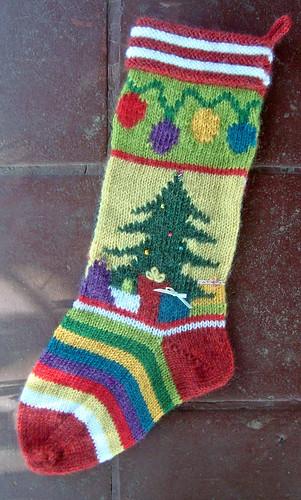 Christmas Stocking Knitting Pattern Ravelry : Ravelry: Mix-It-Up Christmas Stocking Intarsia pattern by ...